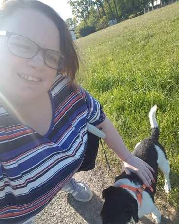 Selfie mit Dame